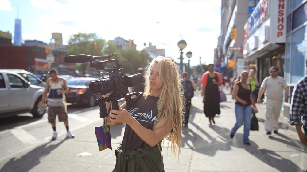 The Wolfpack: la regista Crystal Moselle al lavoro