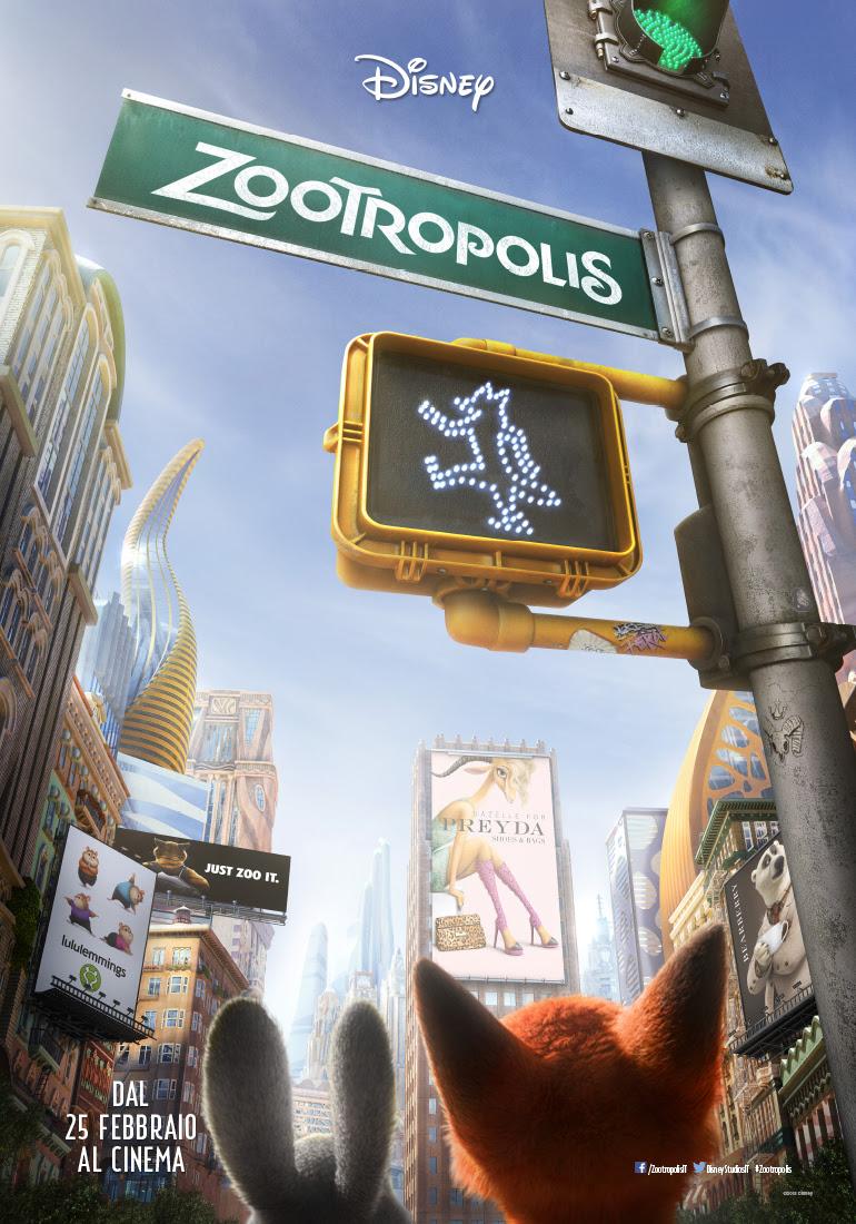 Zootropolis: la locandina italiana del film
