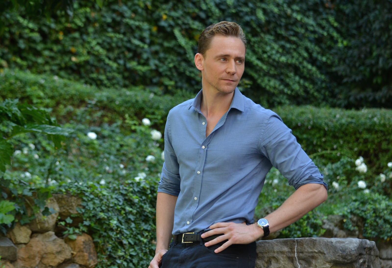 Crimson Peak: Tom Hiddleston al photocall