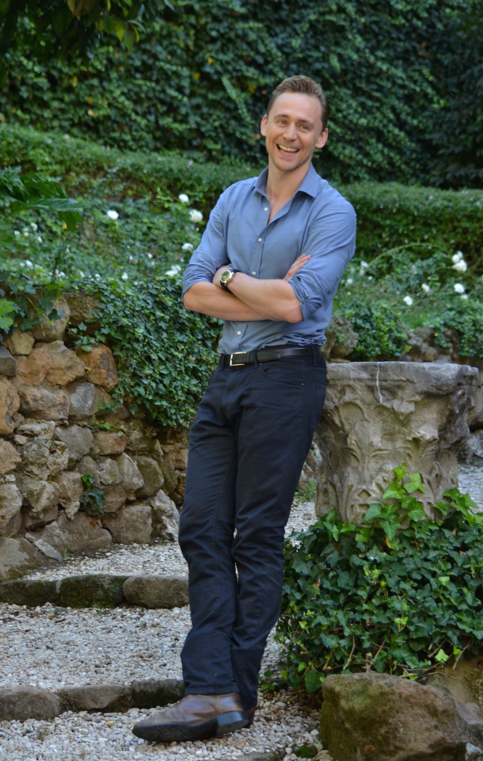 Crimson Peak: Tom Hiddleston posa per i fotografi al photocall