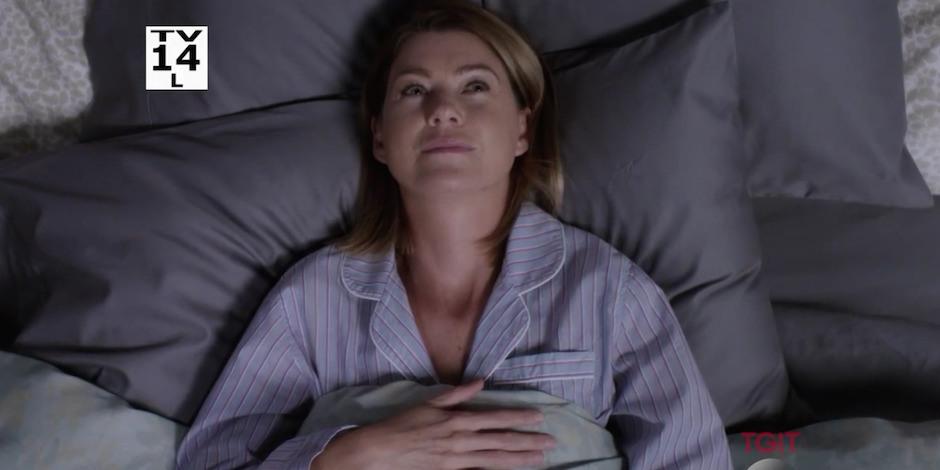 Grey's Anatomy: l'attrice Ellen Pompeo in un'immagine tratta dall'episodio Sledgehammer
