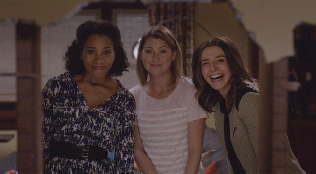 Grey's Anatomy: le attrici Kelly McCreary, Ellen Pompeo e Caterina Scorsone in Sledgehammer