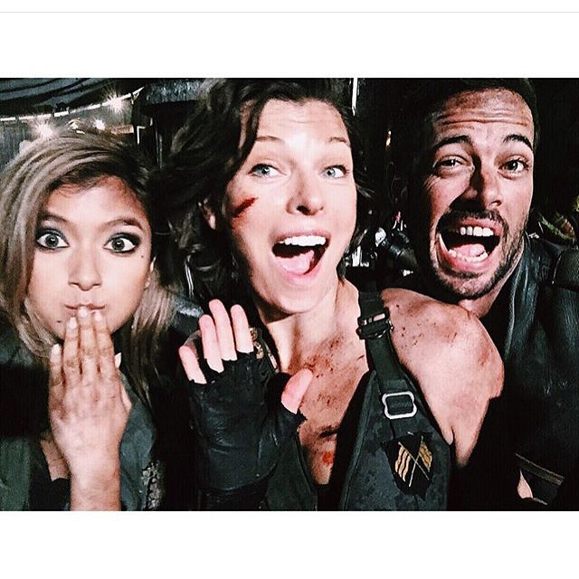 Resident Evil: The Final Chapter - Rola, Milla Jovovich e William Levy durante le riprese