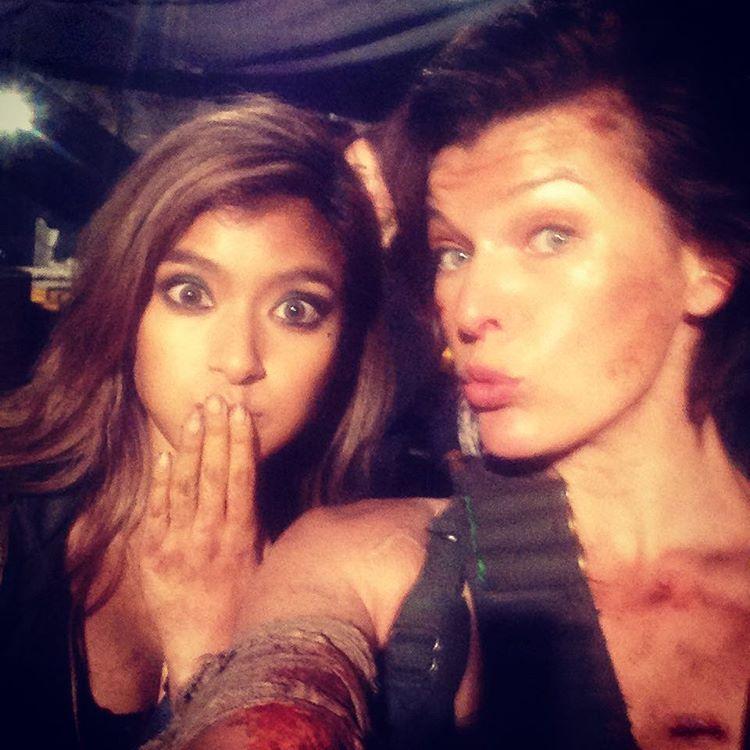Resident Evil: The Final Chapter - Rola e Milla Jovovich sul set