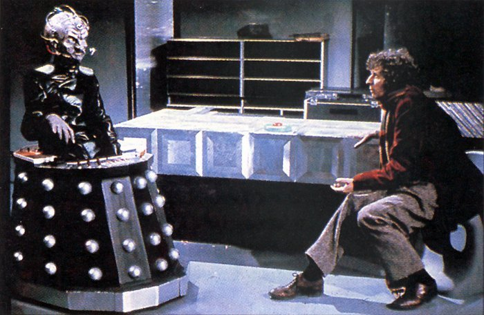 Doctor Who: Tom Baker con Davros in Genesis of the Daleks
