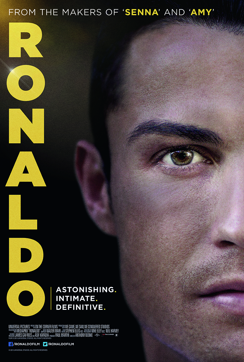 Cristiano Ronaldo - Il mondo ai suoi piedi: un poster promozionale del documentario dedicato a Cristiano Ronaldo