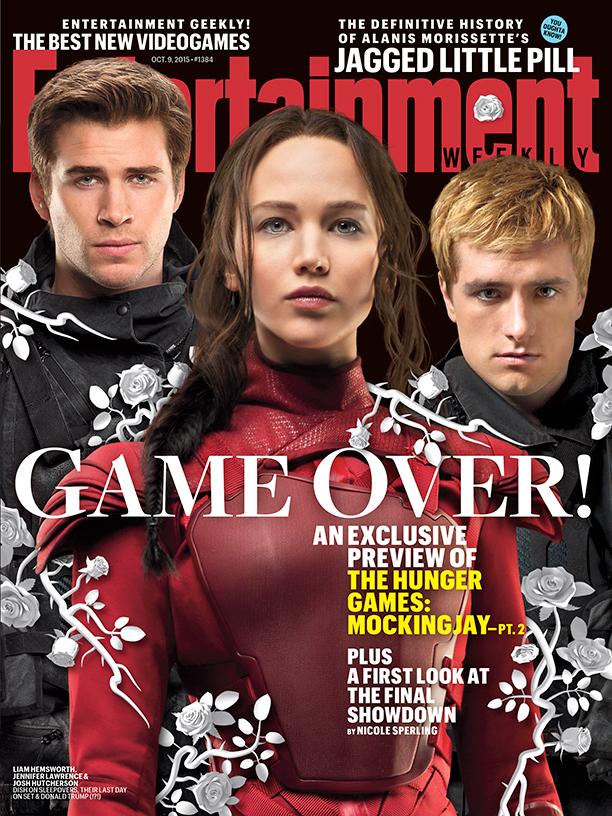 Hunger Games: Il Canto della Rivolta - Parte 2: la copertina di Entertainment Weekly dedicata al film