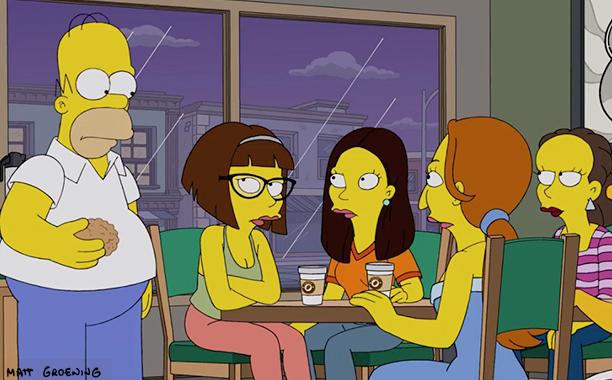 I Simpson: Homer fa un incontro al bar nell'episodio Every Man's Dream