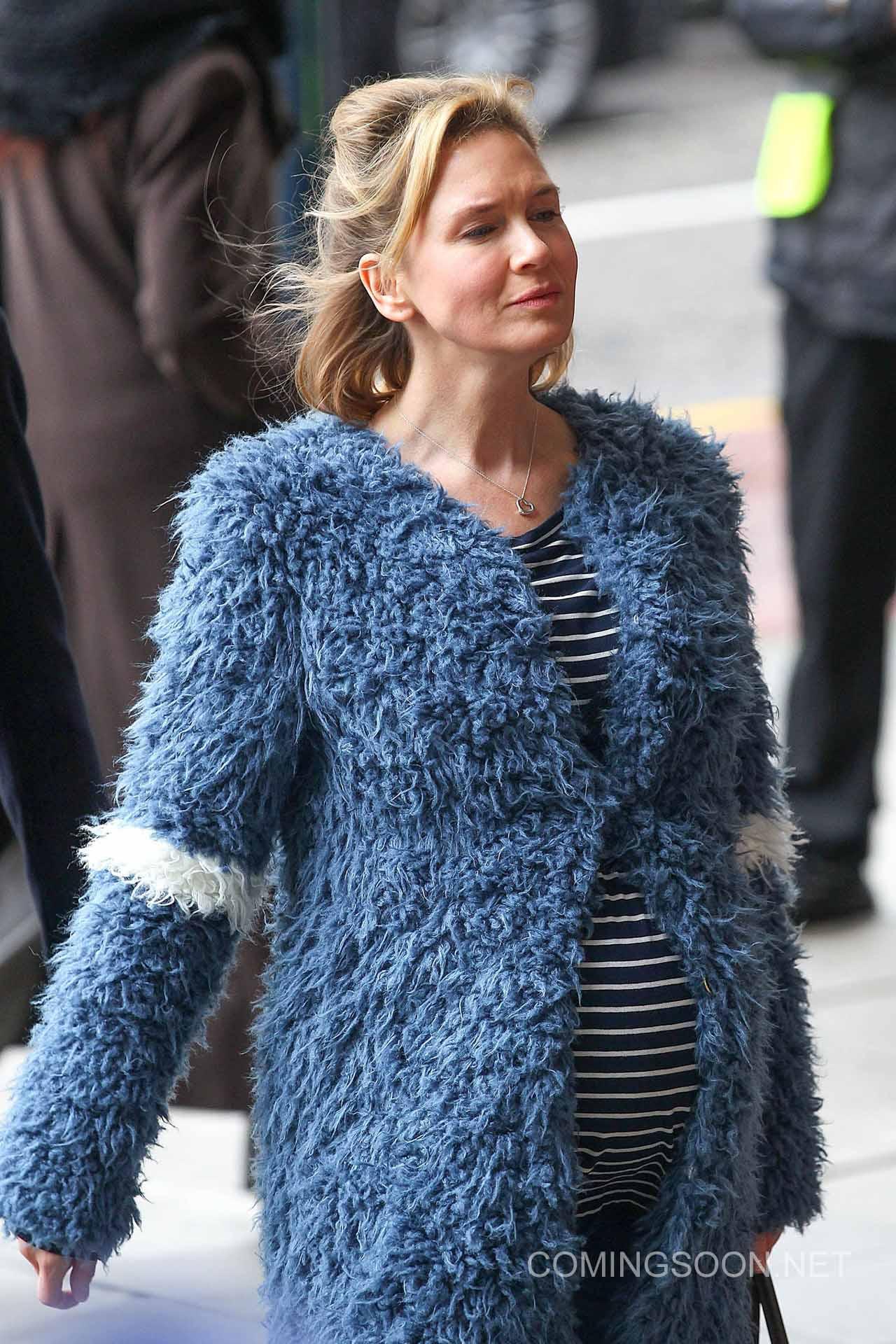 Bridget Jones's Baby: l'attrice Renée Zellweger sul set