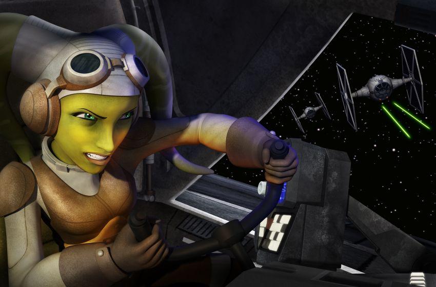 Star Wars Rebels: Hera in una scena della seconda stagione