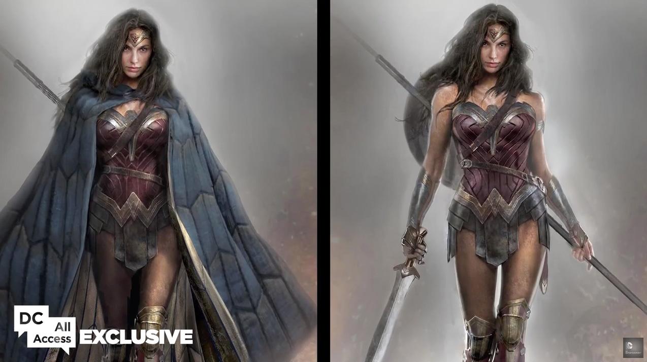 Batman v Superman: un bozzetto dei costumi di Wonder Woman