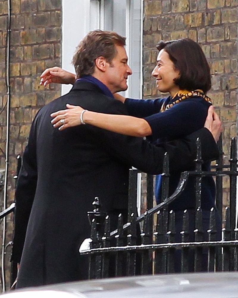 Bridget Jones's Baby: l'attore Colin Firth sul set