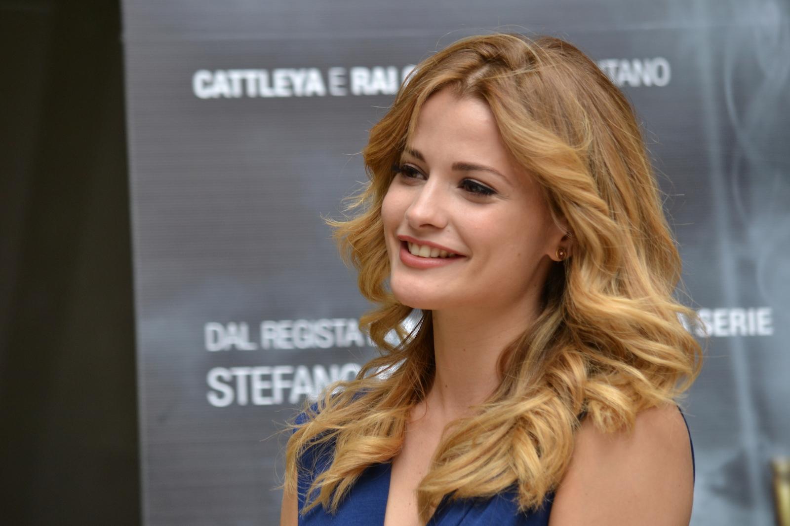 Giulia Elettra Gorietti è nel cast di Suburra - foto dalla presentazione a Roma