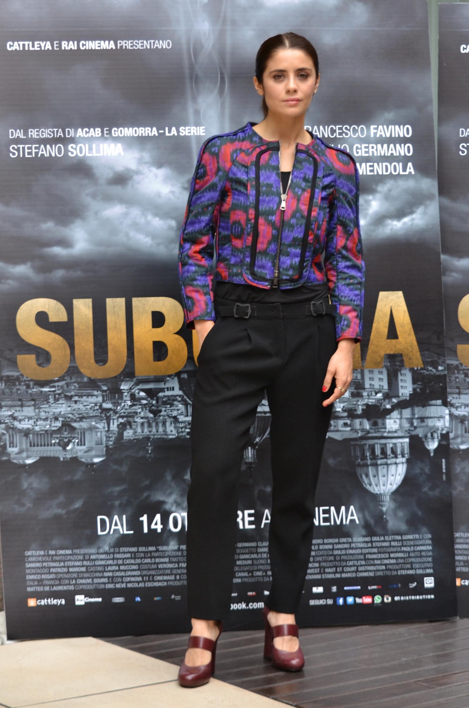 Suburra - Greta Scarano presenta il film a Roma