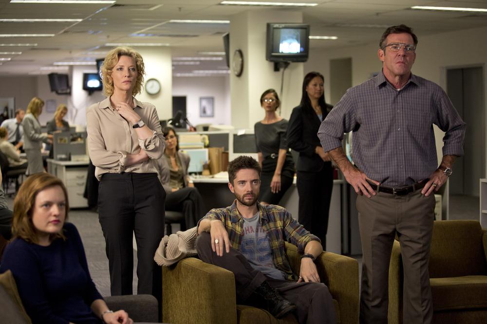 Truth: Cate Blanchett, Topher Grace, Elisabeth Moss e Dennis Quaid in una scena del film