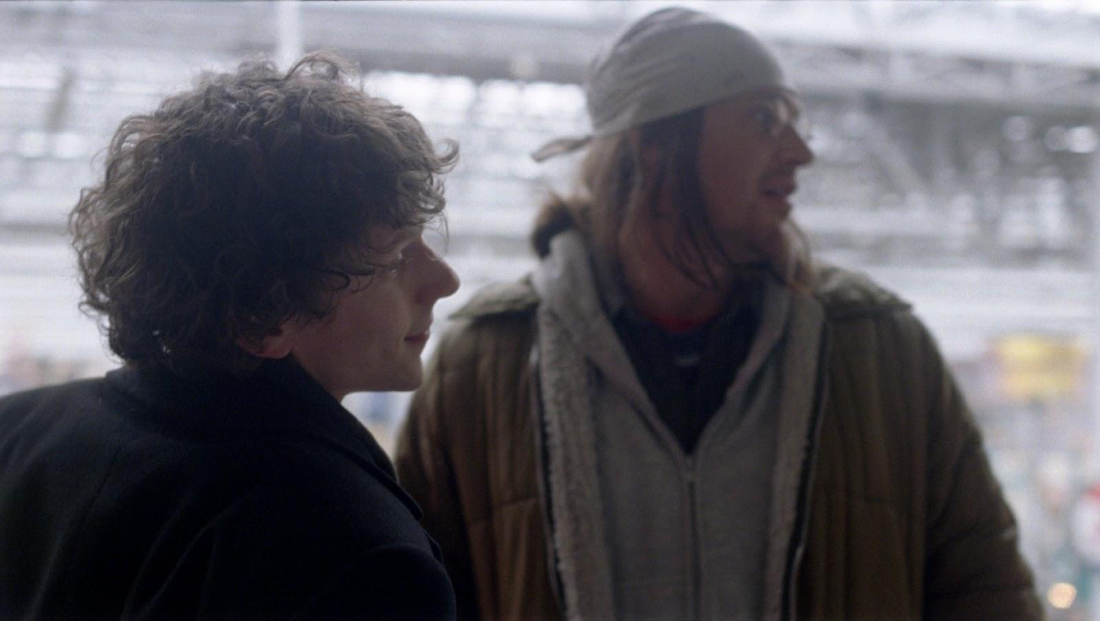The End of the Tour: Jesse Eisenberg e Jason Segel in una scena del film
