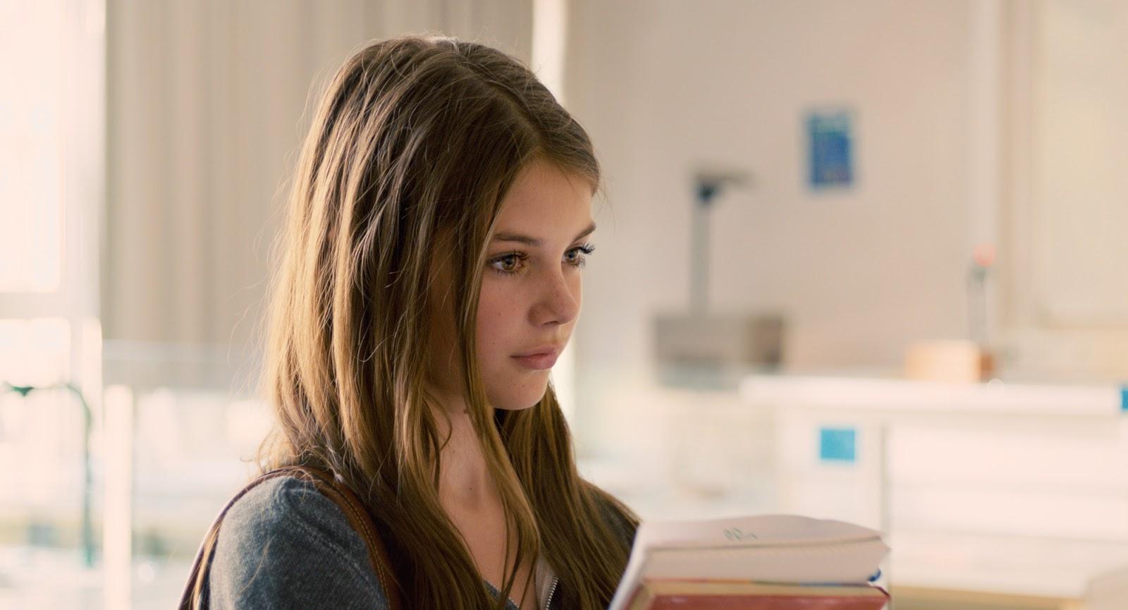 The New Kid: un'inquadratura che ritrae la giovane Johanna Lindstedt