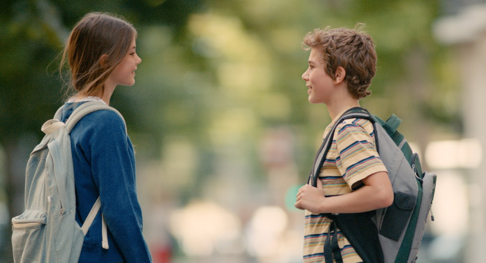 The New Kid: Réphaël Ghrenassia e Johanna Lindstedt in una scena del film