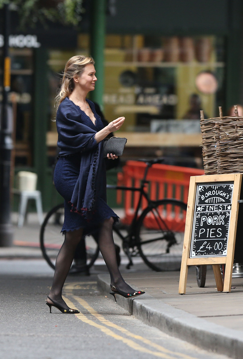 Bridget Jones's Baby: Renée Zellweger in una foto scattata sul set