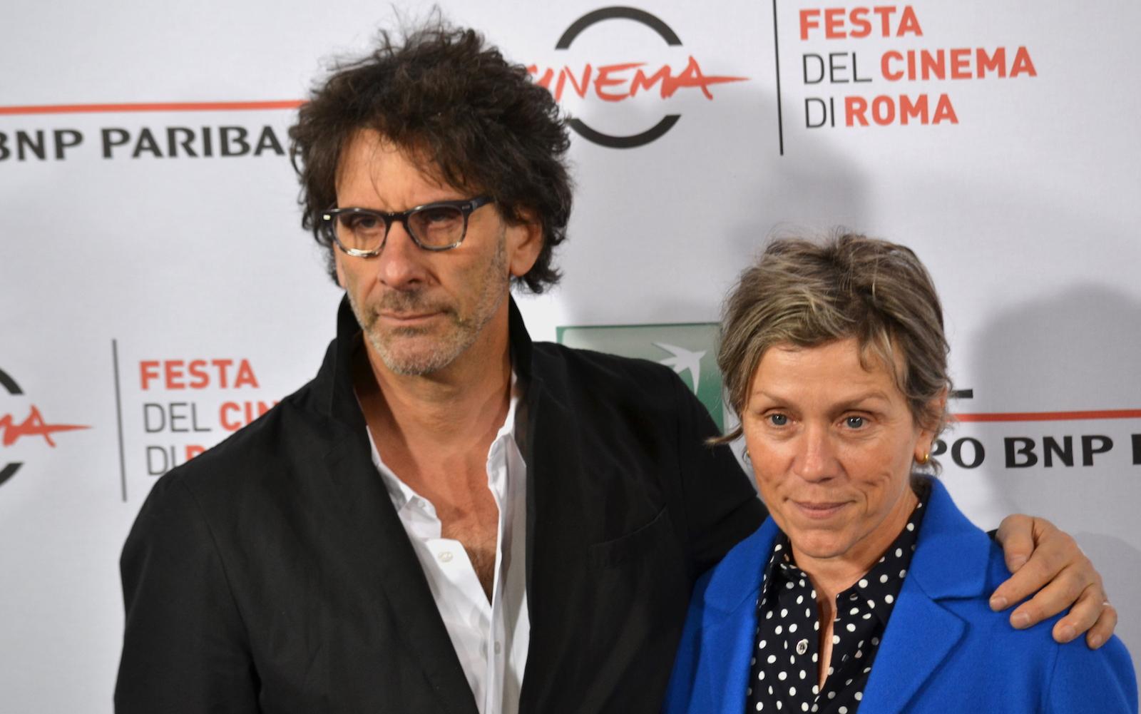 Roma 2015: Frances McDormand e joel Coen in uno scatto al photocall