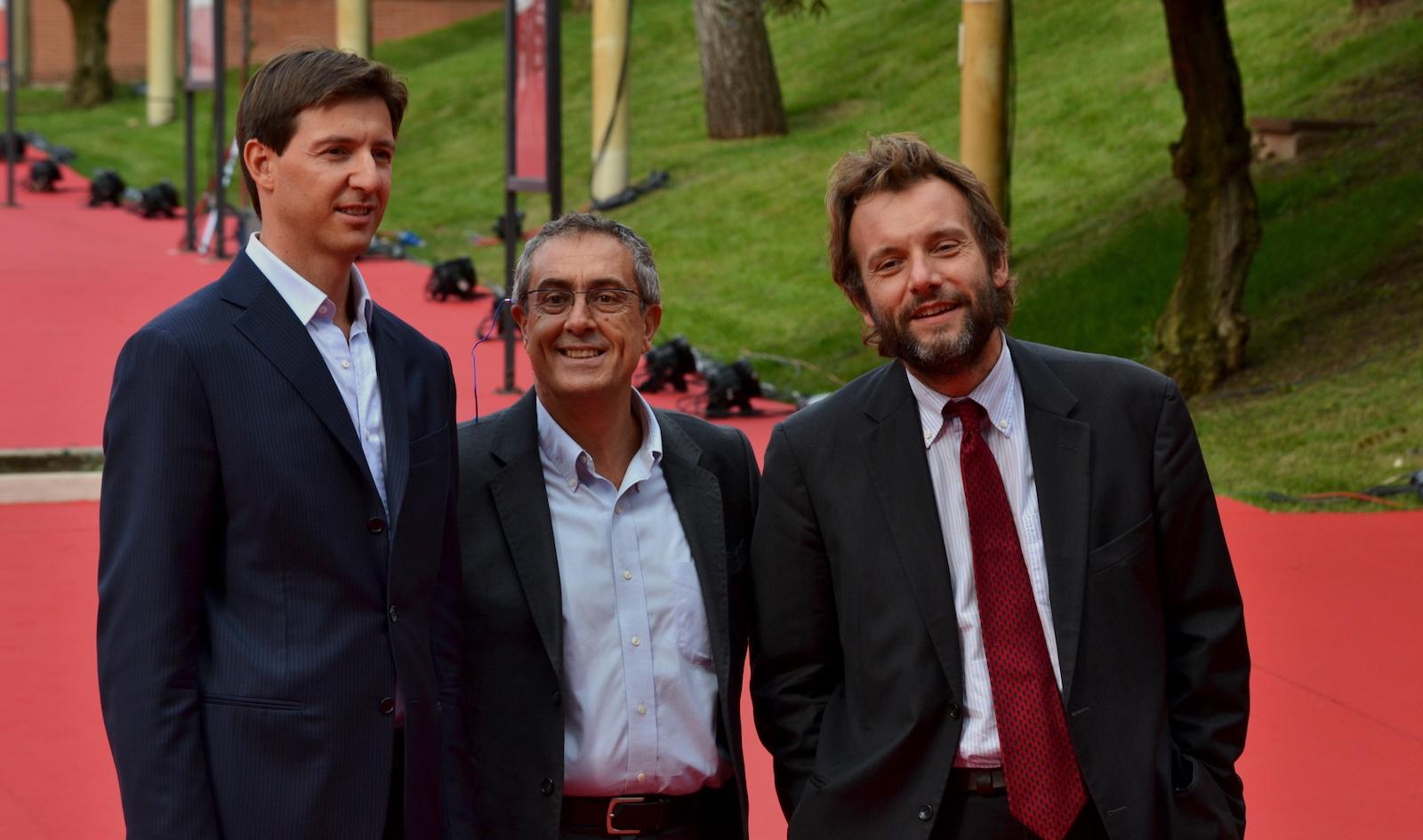 Roma 2015: Stefano Bethlene e Marco Spagnoli posano sul red carpet di Inside Out