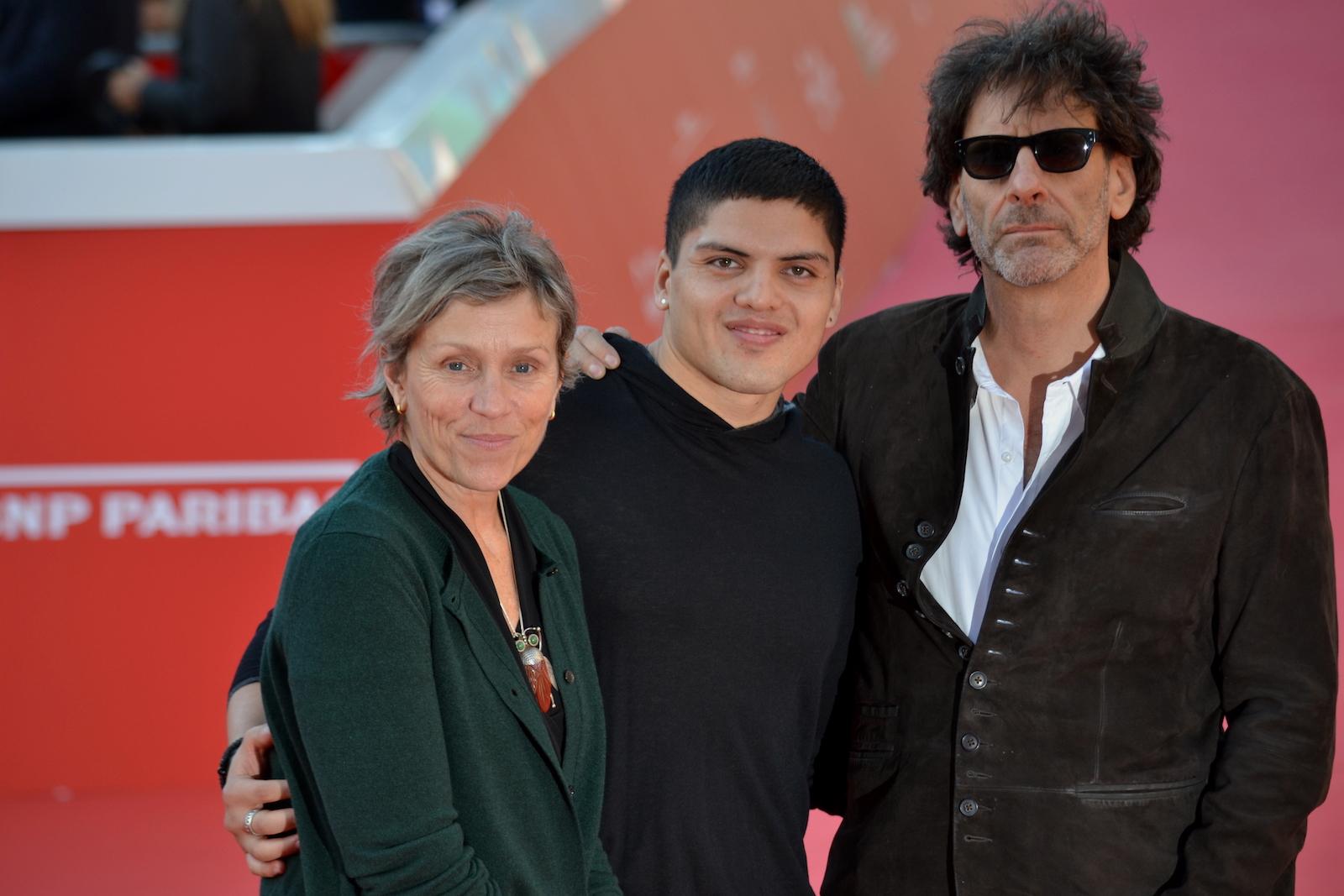 Roma 2015: Frances McDornand e Joel Coen mentre posano per i fotografi sul red carpet