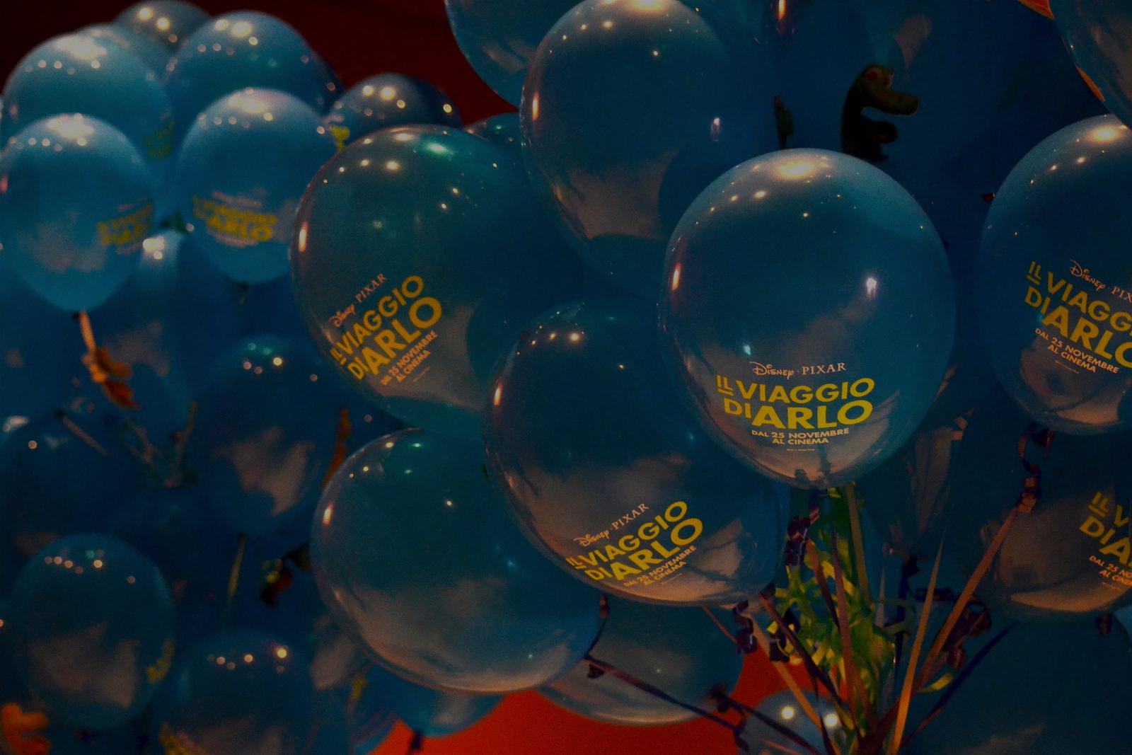 Roma 2015: palloncini dedicati a Il viaggio di Arlo