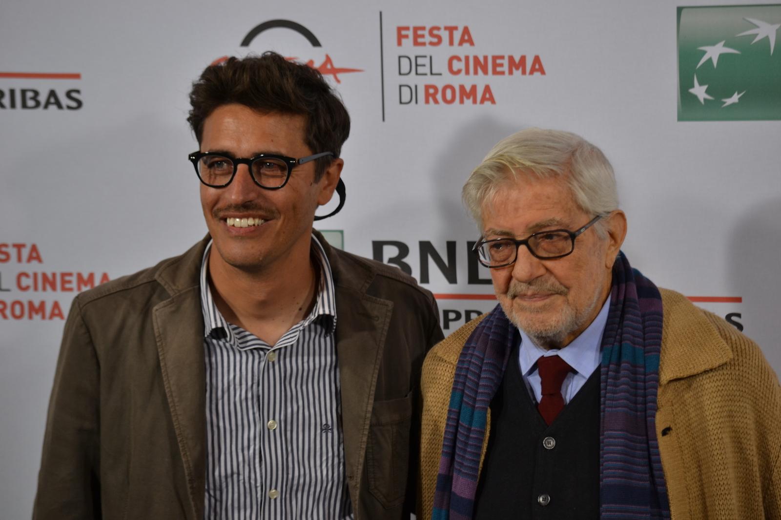 Roma 2015: Ettore Scola e Pierfrancesco Diliberto al photocall di Ridendo e Scherzando