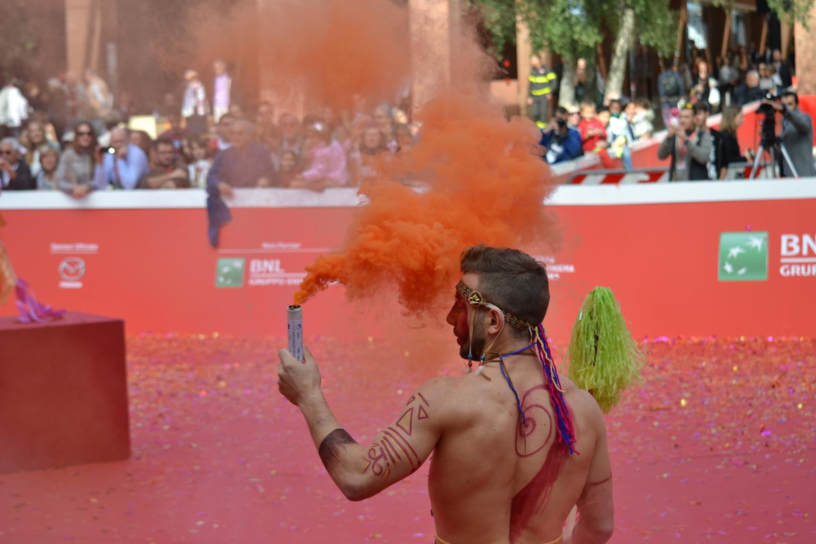 Roma 2015: un momento del red carpet animato di Pan - Viaggio sull'isola che non c'è