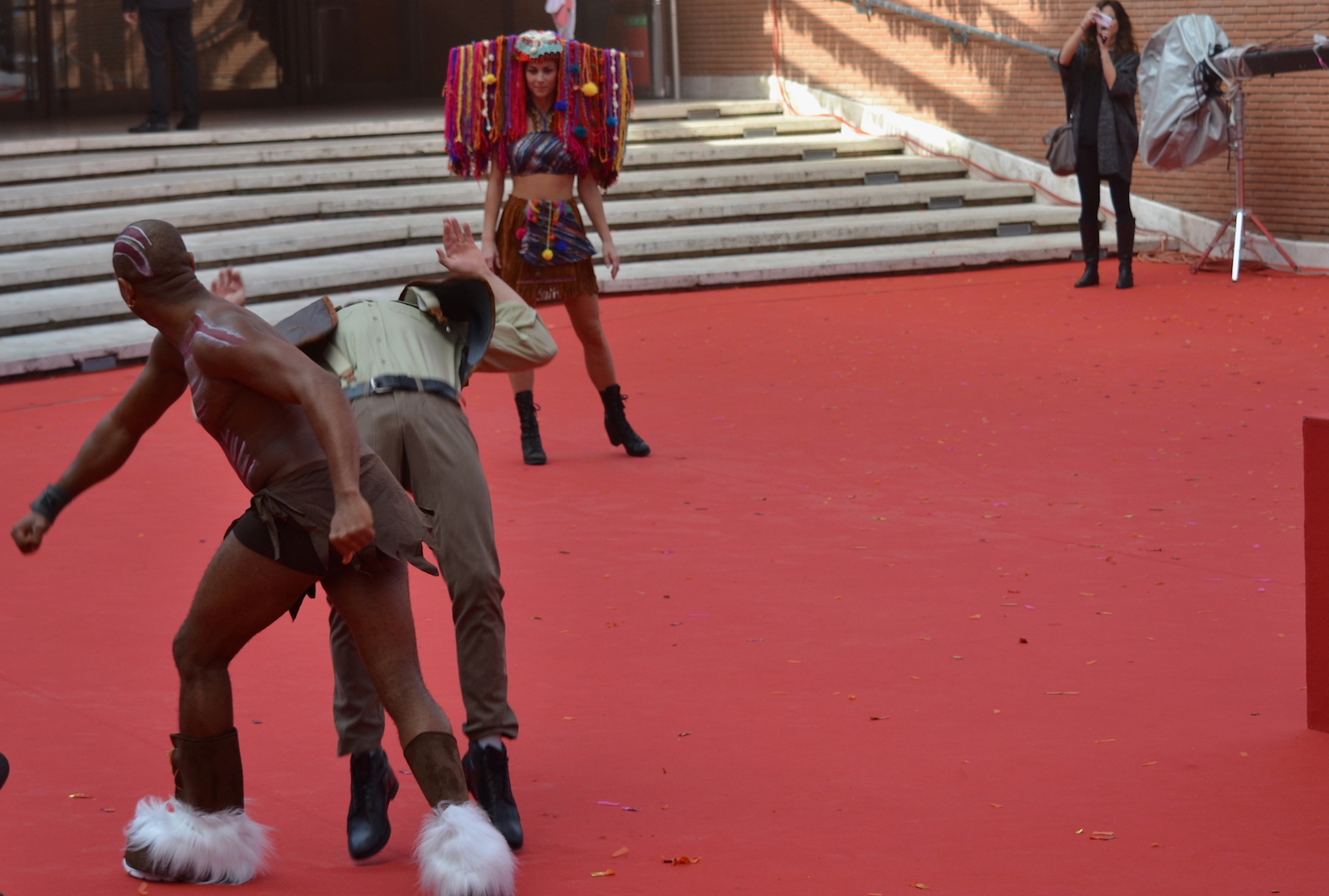 Roma 2015: un istante del red carpet animato di Pan - Viaggio sull'isola che non c'è