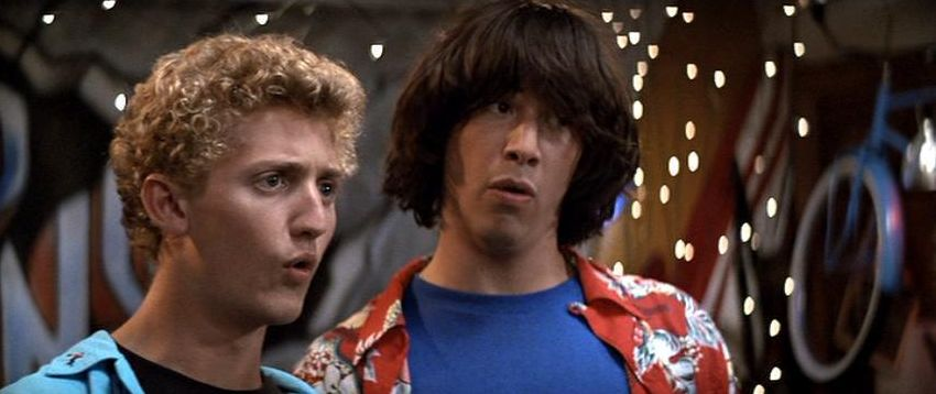 Keanu Reeves e Alex Winter in Billy and Ted excellent adventure