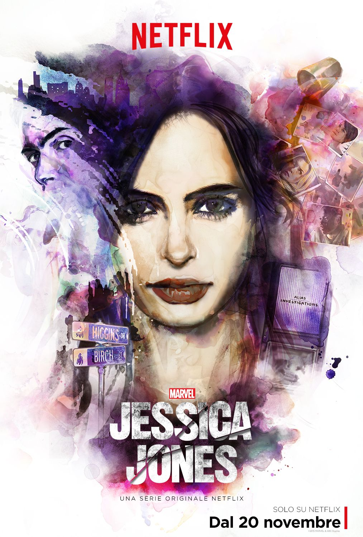 Jessica Jones: la locandina ufficiale di Netflix