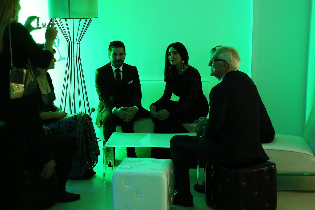 Monica Bellucci con il regista di Ville-Marie a Roma 2015
