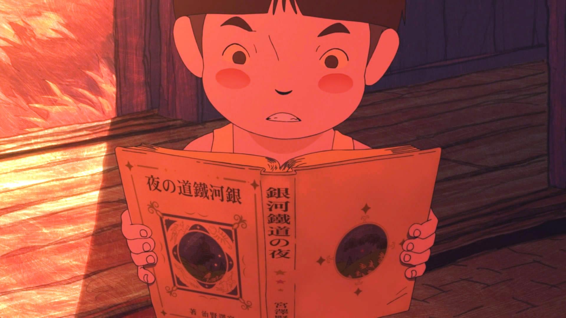 Giovanni's Island: il piccolo protagonista intento a leggere