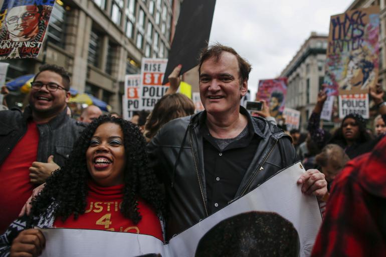 Quentin Tarantino in piazza a New York contro le violenze della polizia