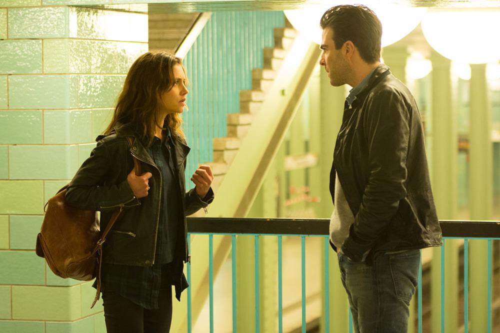 Hitman: Agent 47, Hannah Ware e Zachary Quinto in una scena del film