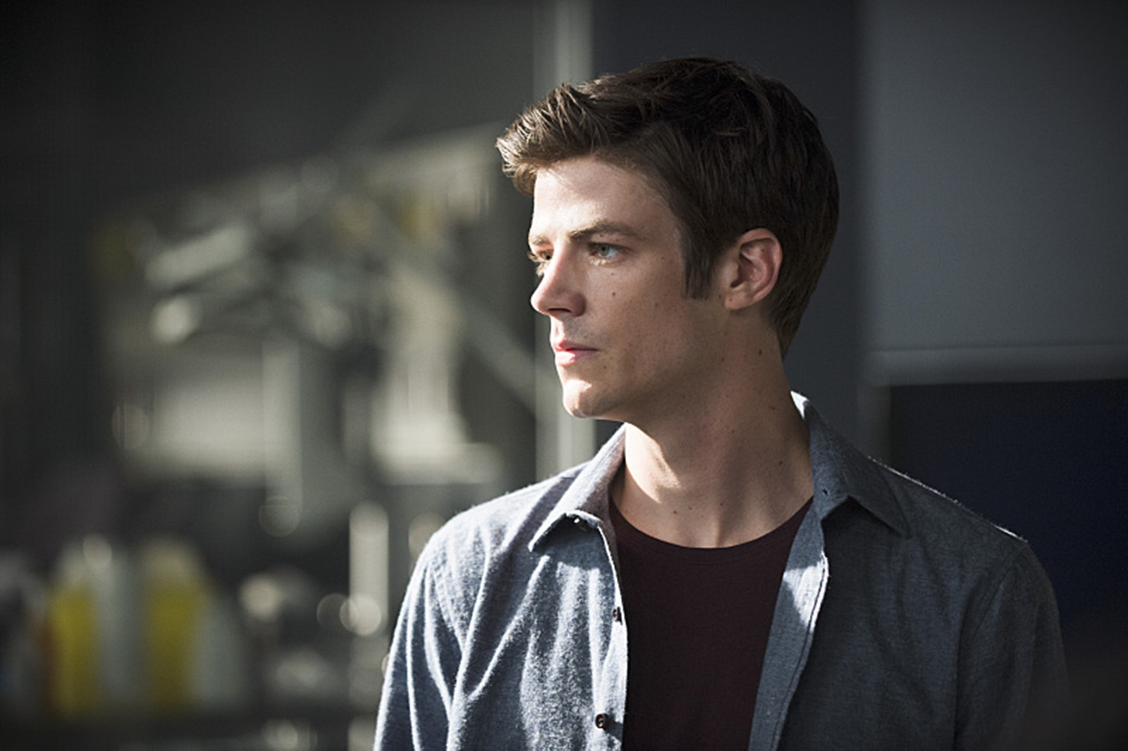 The Flash: Grant Gustin interpreta Barry Allen nell'episodio The Man Who Saved Central City
