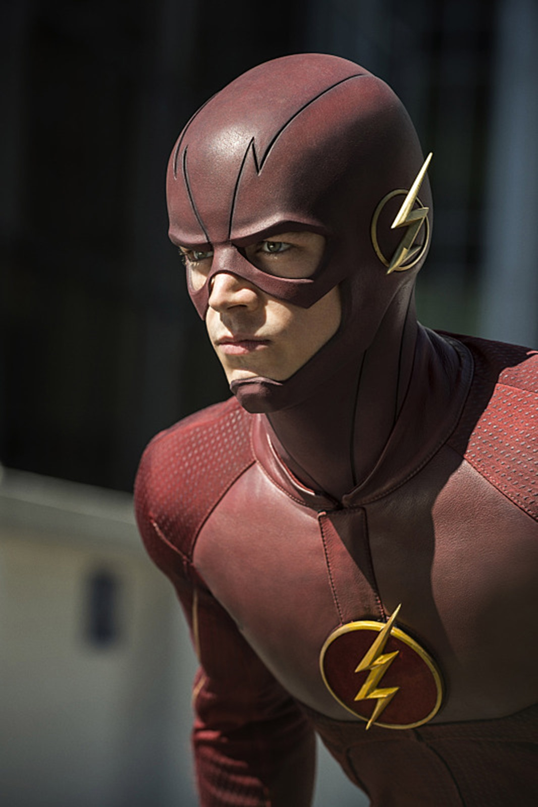 The Flash: il protagonista Grant Gustin nell'episodio Flash of Two Worlds
