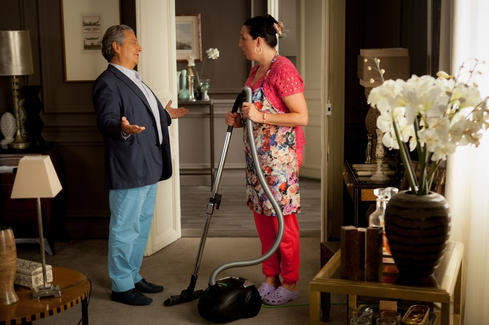 Tutti pazzi in casa mia: Christian Clavier e Rossy de Palma in una scena del film