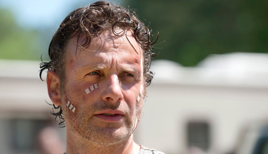 The Walking Dead: Andrew Lincoln in una scena di Thank You