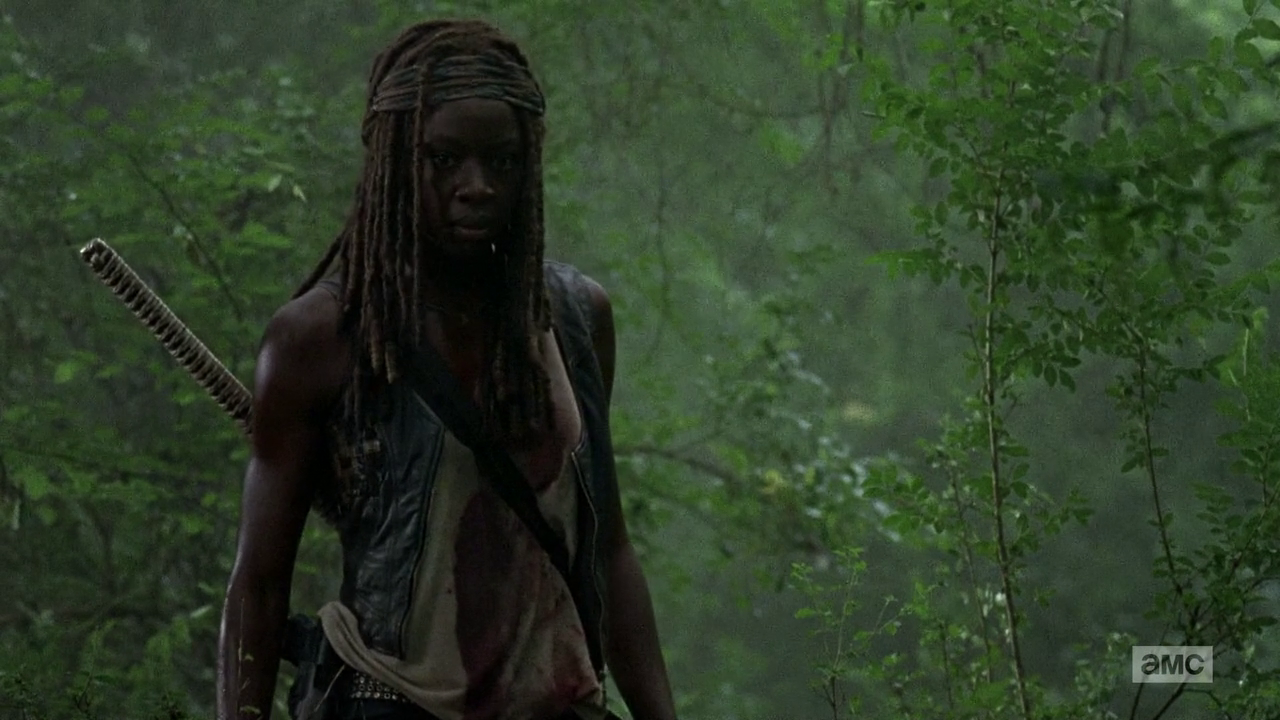 The Walking Dead: Danai Gurira interpreta Michonne nell'episodio Grazie