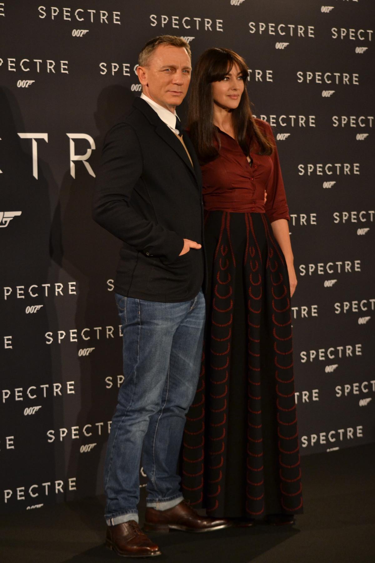 Daniel Craig e Monica Bellucci al photocall di Spectre