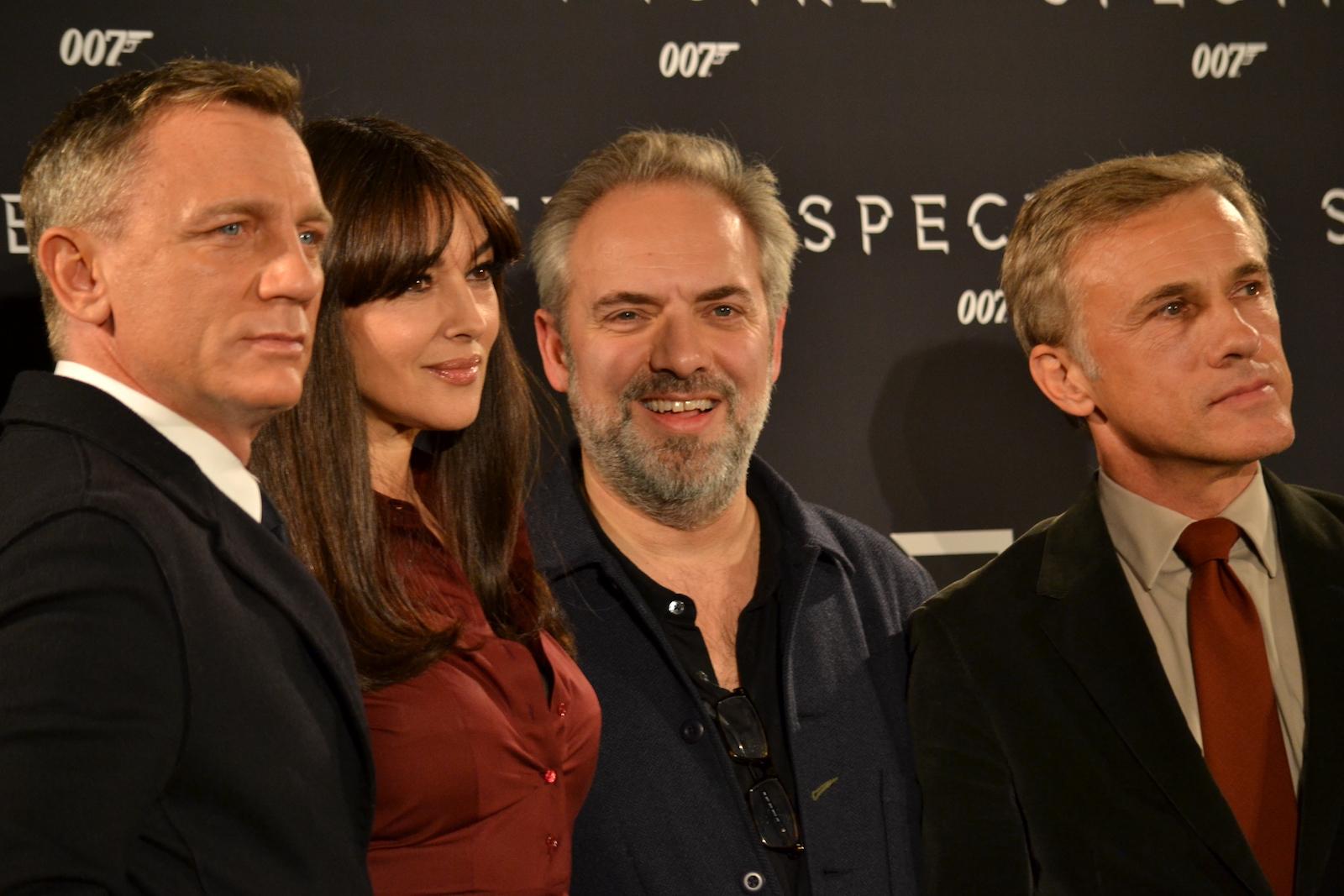 Daniel Craig, Monica Bellucci, Cristoph Walz e Sam Mendes al photocall di Spectre