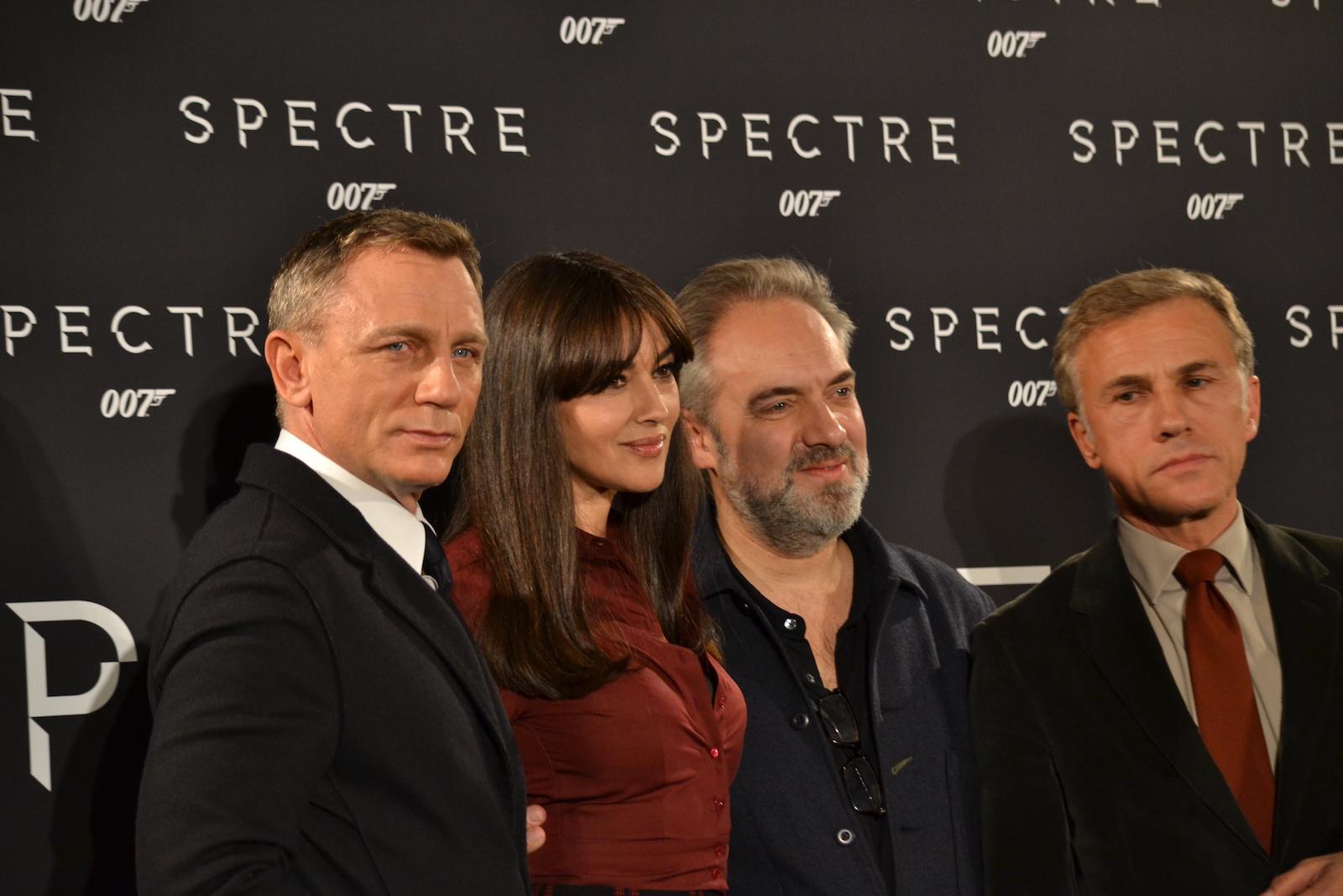 Sam Mendes, Monica Bellucci, Cristoph Walz e Daniel Craig al photocall di Spectre
