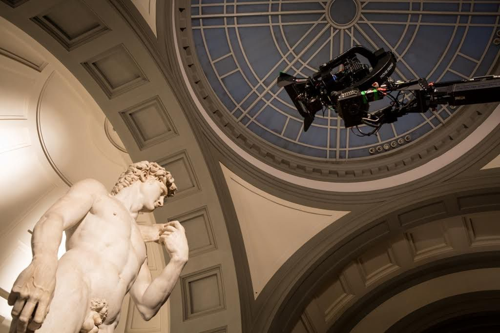 Firenze e gli Uffizi 3D/4K: un'immagine dal set del documentario