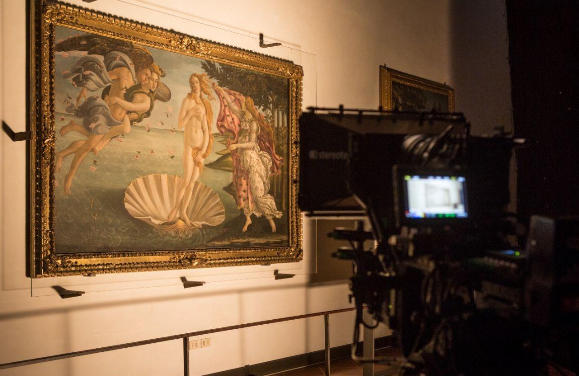 Firenze e gli Uffizi 3D/4K: un'immagine dal set del nuovo documentario prodotto da Sky 3D