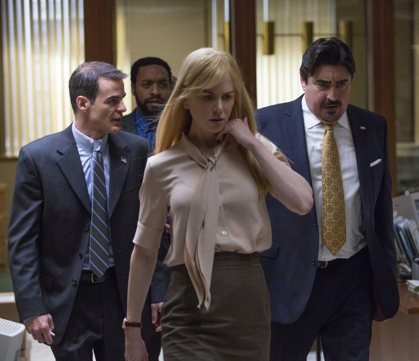 Il segreto dei suoi occhi: un'immagine del film con protagonisti Nicole Kidman, Michael Kelly, Alfred Molina e Chiwetel Ejiofor