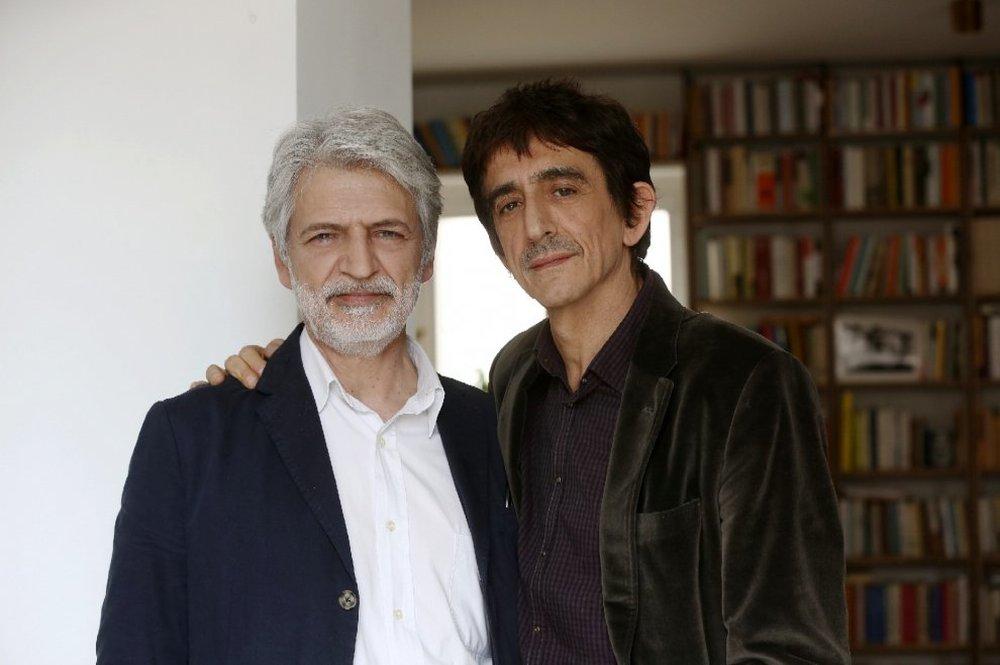 obbiamo parlare: Sergio Rubini e Fabrizio Bentivoglio in un'immagine promozionale del film