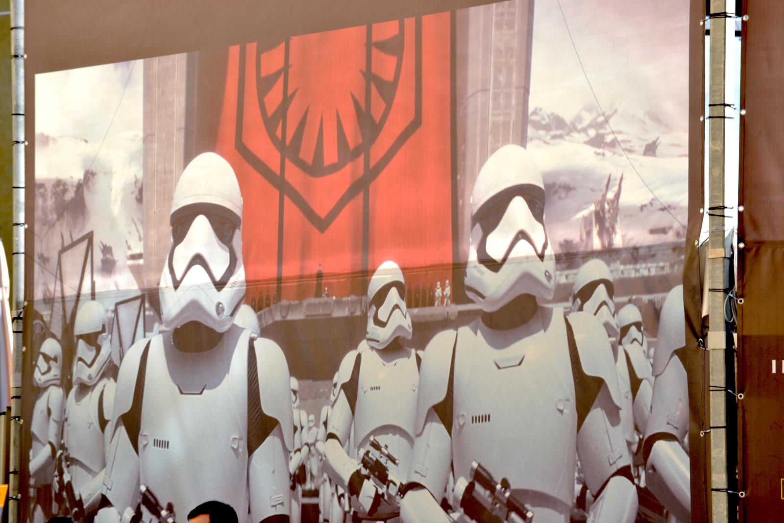 Lucca 2015: Facciata del padiglione Star Wars
