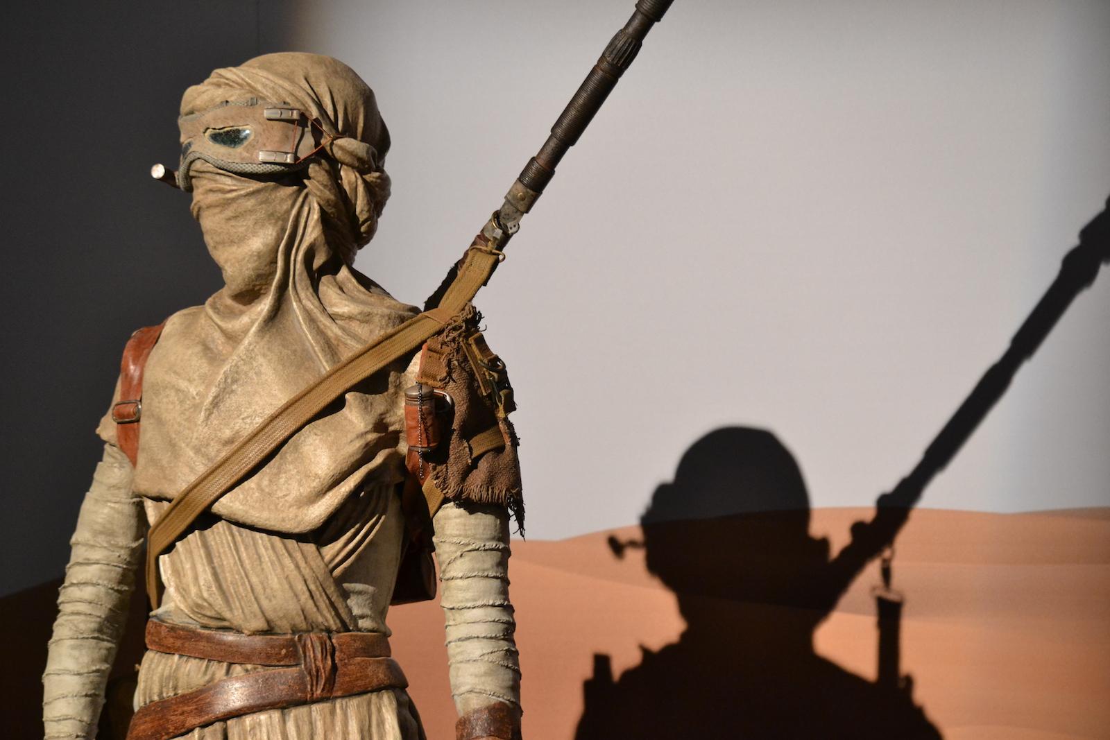 Lucca 2015: Dettaglio dei vestiti di Rey al padiglione Star Wars